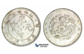 D13, China, Kiangnan, 7 Mace 2 Candareens (Dollar), CD (1904) Silver, Nice, minor cleaning!