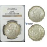 D17, Belgium, Leopold II, 5 Francs 1868 (Pos. A) Silver, NGC MS64