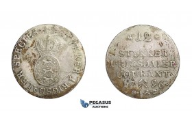 D38, Norway, Christian VII, 8 Sk.-1/15 Speciedaler 1796-HIAB, Silver (2.62g) NM 66A