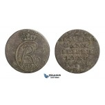 D39, Norway, Christian VII, 2 Skilling 1803-IGM, Silver (1.46g) NM 89, Dark toning!