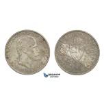 D46, Norway, Haakon VII, 2 Kroner 1917, Silver, NM 14, Very Nice!