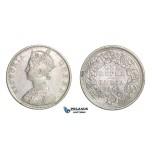 D83, British India, Victoria, Rupee 1862, Silver