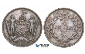 E34, British North Borneo, Cent 1888-H, Copper