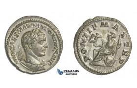 E57, Roman Empire, Elagabal (218-222 AD) AR Denarius (2.69g) Rome, Struck 218 AD, Roma