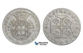 E76, Portugal, Joao VI, 400 Reis 1822, Lisbon, Silver, High Grade!