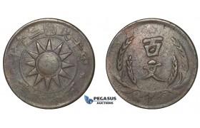 E90, China, Honan, 100 cash Yr. 20 (1931) Large Copper, Rare!