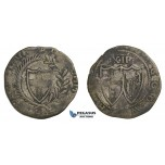 E98, Great Britain, Commonwealth, Shilling (Date not vissible) Silver (5.82g) mm. Anchor, Tower mint, Rare!