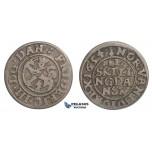 F04, Norway, Frederik III, 2 Skilling 1654, Silver (0.95g) Christiania, NM 208