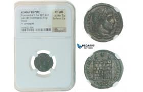 F41, Roman Empire, Constantine I (307-337 AD), Æ Nummus (3.15g) Siscia, Campgate NGC Ch AU