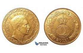 G13, Romania, Carol II, 20 Lei 1940 (Type II) Gold, XF, Rare!