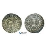 G17, Britain, Henry III (1216-1272) Short Cross Penny ND, Cantebury, Silver (1.47g) Very Nice