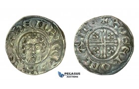 G17, Britain, Henry III (1216-1272) Short Cross Penny ND, Cantebury, Silver (1.47g) Very Nice