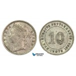 G39, Straits Settlements, Victoria, 10 Cents 1898, Silver, High Grade!