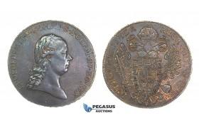 G63, Austria, Leopold II, Taler 1792-A, Vienna, Silver (28.08g) Very Rare!