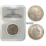 H25, Ottoman Empire, Turkey, Abdülhamid II, 10 Kurush AH1293/3, Silver, NGC MS63, Rare!