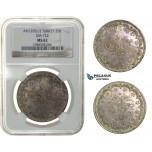 H26, Ottoman Empire, Turkey, Abdülhamid II, 20 Kurush AH1293/2, Silver, NGC MS62