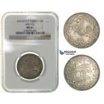 H29, Ottoman Empire, Turkey, Mehmed V, 10 Kurush AH1327/7, Silver, NGC MS61