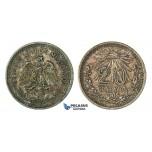 H46, Mexico, 20 Centavos 1905, Silver, Rainbow Toned High Grade!