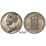 H49, Netherlands, Willem II, Gulden 1846, Lis, Silver, Mint Lustre, High Grade!