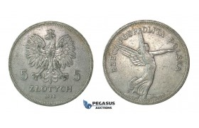 "H55, Poland, 5 Zlotych 1928 ""Nike"" Silver, Warsaw"