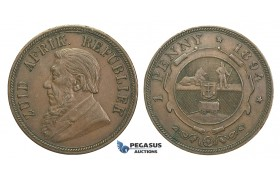 H56, South Africa (ZAR) Penny 1894, Very Nice!