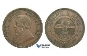 H56, South Africa (ZAR) Penny 1894, Very Nice!
