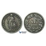 H65, Switzerland, 1/2 Franc 1899-B, Bern, Silver, Nice!