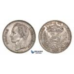 H67, Venezuela, GRAM 5 (Bolivar) 1887, Caracas, Silver, High Grade, Very Rare!