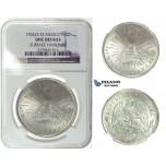 I21, Mexico, Peso 1902 Zs FZ, Silver, NGC UNC Details