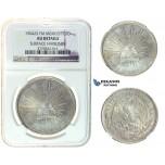 I22, Mexico, Peso 1904 Zs FM, Silver, NGC AU Details