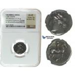 I28, Italy, Calabria, Tarentum, AR Nomos (6.94 g), Campano-Tarentine Series (ca. 281-228 BC) NGC Ch VF