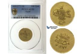 I39, Ottoman Empire, Egypt, Abdülaziz, 100 Qirsh AH1277/10, Gold, Misr, PCGS AU53