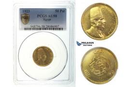 I41, Egypt, Fuad, 50 Piastres 1923, Gold, PCGS AU58