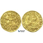 I52, Hungary, Matthias Corvinus, Goldgulden ND (1482-88) h-T, Hermannstadt (Transylvania) Gold (3.59g) TOP Grade!