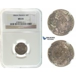 I63, France, Napoleon III, 50 Centimes 1866-A, Paris, Silver, NGC MS65