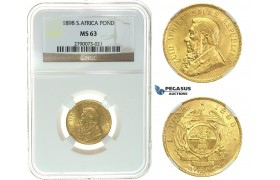 I72, South Africa (ZAR) Pond 1898, Gold, NGC MS63