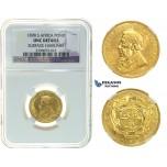I73, South Africa (ZAR) Pond 1898, Gold, NGC UNC Details
