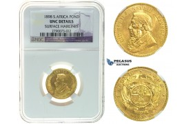 I73, South Africa (ZAR) Pond 1898, Gold, NGC UNC Details