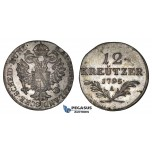 I93, Austria, Francisc II, 12 Kreuzer 1795-A, Vienna, Silver, High Grade!