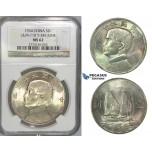 I99, China, Junk Dollar 1934, Silver, NGC MS62