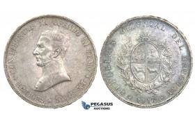 J27, Uruguay, 50 Centesimos 1917, Silver, High Grade (Few bag marks)