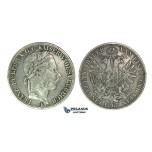 J41, Austria, Franz Joseph, Vereinsthaler 1867-E (Karlsburg) Silver