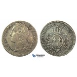 J44, France, Louis XV, 1/10 Ecu 1769-AA, Metz, Silver (2.92g) Nice toning!