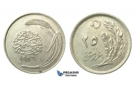 J64, Turkey, 25 Kurush 1926, Nickel, Extremely RARE!