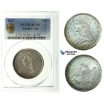 J77, United States, Capped Bust Half Dollar (50 Cents) 1837, PCGS AU58 (Reeded Edge)