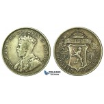 J85, Cyprus, George V, 18 Piastres 1913, Silver, Nice details, no cleaning!