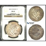 J86, France, Louis Philippe, 5 Francs 1847-A, Paris, Silver, NGC MS62