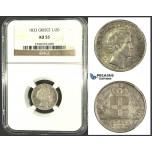 J88, Greece, Othon, 1/2 Drachma 1833, Munich, Silver, NGC AU55