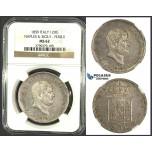 J95, Italy, Naples & Sicily, Ferdinand II, 120 Grana 1859, Silver, NGC MS62