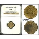 J98, Lithuania, 1 Centas 1925, NGC MS62